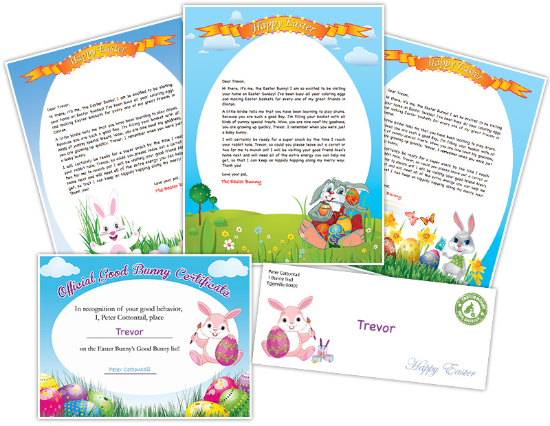 Easter bunny letter example personalized letters from the easter bunny printable easter bunny letter spiritdancerdesigns