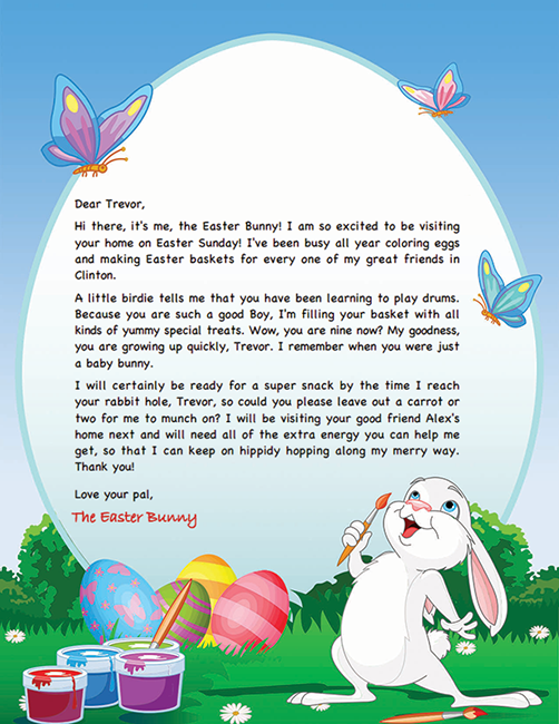 letter to easter bunny template easter bunny letter example personalized letters from